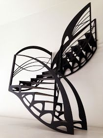 escalier design Escalier Art, Escalier Design, Stair Art, Stair Railing, Art Nouveau, Stairs Repair, Stairs Canopy, Stairs To Heaven, Beautiful Stairs