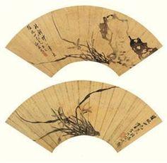 兰花 (二帧) (2 works) ~ Yin Jun (b1974, Deyang, Sichuan Province, China; youngest brother of Yin Kun (b1969)