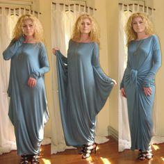 Shape Shifter Asymmetric Maxi Dress Loose Long by KimKatDesign