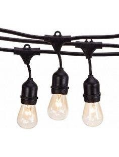 Guirlande Guinguette Raccordable avec 27 G40 ampoule Blanc Chaud