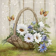 Have A Blessed Weekend! Tole Painting, Fabric Painting, Diy And Crafts, Paper Crafts, Country Art, Decoupage Paper, Flower Basket, Ribbon Embroidery, Embroidery Patterns