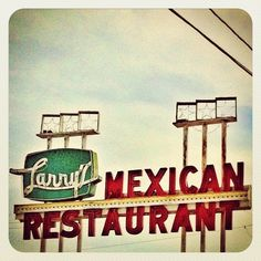 The other vintage neon sign for Larry's Mexican Restaurant in Rosenberg, Texas by MOLLYBLOCK, via Flickr