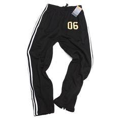 "Post Up ""06"" Striped Sport Sweats in Black - $29.06  Link: http://ift.tt/1nfyT3O"