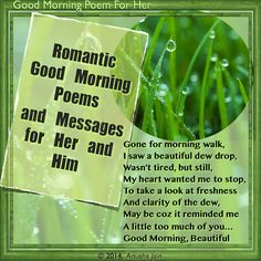 Good Morning Poems for Her and For Him - Rhyming Romantic Messages