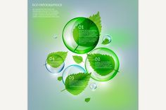 Leaves Bubble Infographics . Brochure Infographic. $3.00