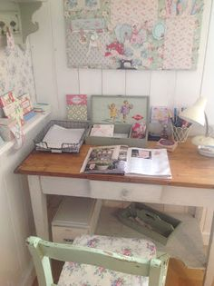 Nice soft colors for home office or craft room