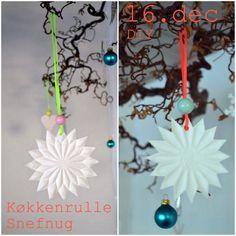 Dagens indlæg i DIY-julepyntskalenderen er et gæsteindlæg af Signe fra Visse Vasse , og jeg synes simpelthen bare hendes snefnug af køkkenru...