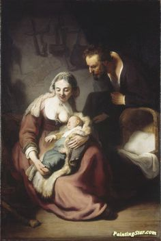 Holy Family Artwork by Rembrandt van Rijn Hand-painted and Art Prints on canvas for sale,you can custom the size and frame