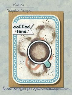 Canvas 5, Rounded Rectangle, Coffee Staining, Dark Stains, Pointillism, Basic Grey, Petunias, Soft Suede, Coffee Time