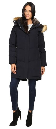 Vince Camuto Faux Fur Trim and Lined Hooded Down Removable Hood L1011 (Navy) Women's Coat - Vince Camuto, Faux Fur Trim and Lined Hooded Down Removable Hood L1011, L1011-410, Apparel Top Coat, Coat, Top, Apparel, Clothes Clothing, Gift, - Fashion Ideas To Inspire