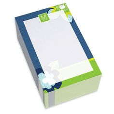 Blue Modern Blooms Chunky Notepads