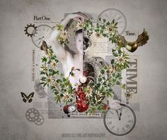 A Life Time,  Created for DigitalMontage Challenge 10 - TIME   Life is precious and delicate like a butterfly.   All my own photography Model - Myself Grunge filters by Vanillaspring