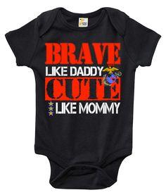 Brave Like Daddy Cute Like Mommy U.S. Marines One-piece Baby Bodysuit