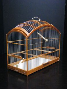 Wooden Birdcage Hand Crafted Oak Wood Bird Cage SM