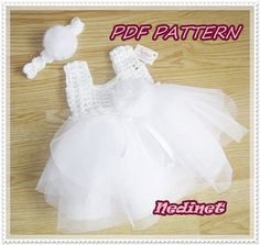 Hey, I found this really awesome Etsy listing at https://www.etsy.com/listing/202856604/crochet-baby-tulle-dress-pattern-crochet