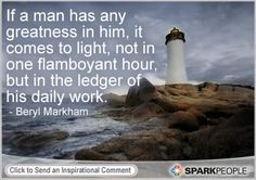 Motivational Quote by Beryl Markham, adventurer and author