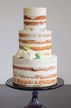 naked cakes: shell & chinoiserie blog... Personalized Cake serving sets...  http://www.thevineyard.carlsoncraft.com