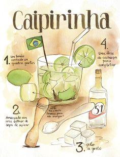 CAIPIRINHA » Cibele Gomes Cocktails, Cocktail Drinks, Drinks Alcohol Recipes, Alcoholic Drinks, Bar Drinks, Beverages, Eat This, Summer Drinks, Alcoholic Drink Recipes