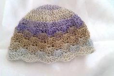 Ravelry: Any Size Shell Stitch Hat pattern by Eleanor Thomson Newborn Crochet Patterns, Crochet Baby Hats, Crochet Beanie, Knitted Hats, Knit Crochet, Crochet Things, Hat Patterns, Free Crochet, Crochet Crafts