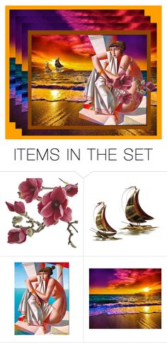 """""""Penelope waiting for Odysseus from the trip"""" by m-kints ❤ liked on Polyvore featuring art"""