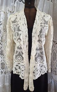 Stunning-Antiqeue-Ladies-Jacket-French-Normandy-Lace-Phenomenal  Vintageblessings