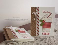 Stampin' & Scrappin' with Stasia: Christmas Cheer Christmas Cards 2017, Christmas Paper Crafts, Stampin Up Christmas, Xmas Cards, Holiday Cards, Christmas 2019, Christmas Items, Christmas Greetings, Greeting Cards