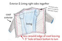 coat lining construction tips