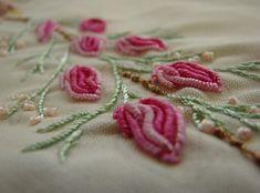 Brazilian embroidery rose