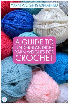 Terms surrounding yarn weight can be incredibly confusing and misleading. Especially as a beginner crocheter or knitter. This guide walks you through step by step, what yarn weight means, how it is decided and how it could impact the yarn you choose for a project. It explains wraps per inch as well as yarn weight categories (US and UK terms) - all compared in a handy chart/ Visit the post to answer all those questions you had about yarn weight but didn't know who to ask! Crochet Yarn, Knitting Yarn, Free Crochet, Knitting Patterns, Crochet Patterns, Beginner Crochet Tutorial, Crochet For Beginners, Crochet Tutorials, Yarn Weight Chart