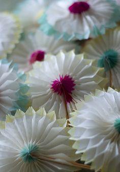 vintage paper pinwheels
