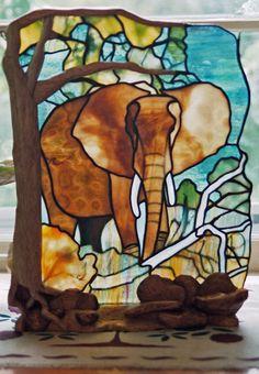 Elephant by Robert Oddy - Robert Oddy Stained Glass Artist