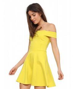 Boat Neck Sexy Dress - Dresses