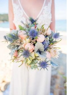 Bathing beauty - WHITE Magazine Purple and mint again Beach Wedding Reception, Beach Wedding Flowers, Bridal Flowers, Wedding Reception Decorations, Floral Wedding, Bouquet Bride, Bridesmaid Bouquet, Wedding Bouquets, Enchanted Bridal