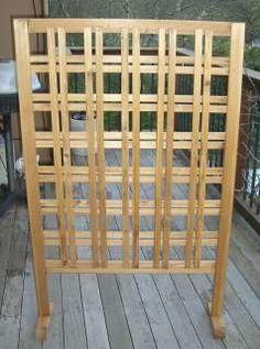 wood slat vertical garden trellis | GARDEN SCREENING ROLL 2m x 4m Screen Fencing Fence Panel Wooden