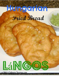 Hungarian Fried Bread called Langoš or Lángos. Make it sweet or savory :)
