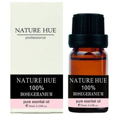 Nature Hue - Rose Geranium Essential Oil 10 ml, 100% Pure Therapeutic Grade, Undiluted -- Discover this special product, click the image : Patchouli oil