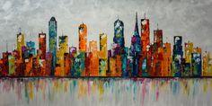 XXL Painting 60x30 Palette Knife Painting Modern von Catalin