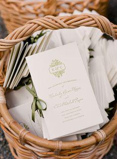 Wedding Programs, Lisa Lefkowitz Photography