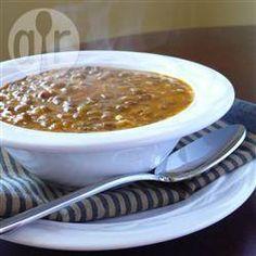 Foto da receita: Fakes (sopa grega de lentilha)