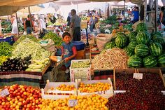 vegetable market #Finnmatkat Excellence Resorts, Marketing, Fruit, Vegetables, City, Alanya, Vegetable Recipes, Cities, Veggies