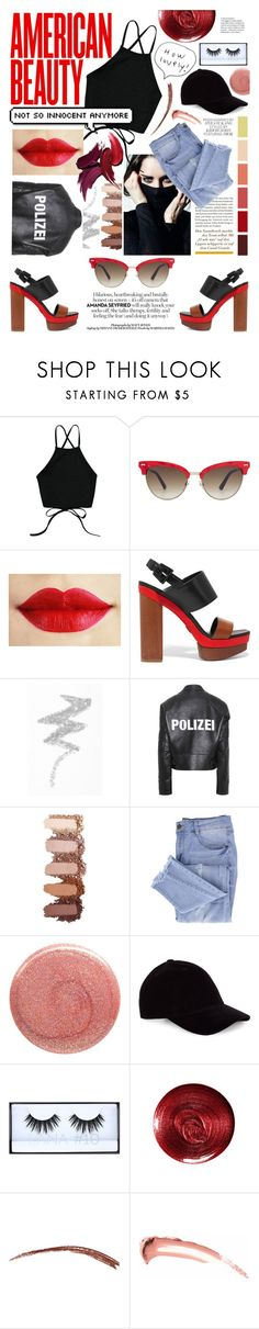 """""""American Beauty"""" by peppermint-candy ❤ liked on Polyvore featuring Gucci, Michael Kors, NYX, Vetements, Essie, Deborah Lippmann, Huda Beauty and Christian Dior"""