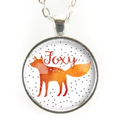 Cute Foxy Necklace, Fox Jewelry – CellsDividing