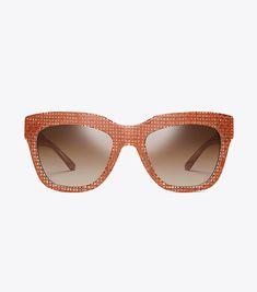 97652a986a Tory Burch Raffia Square Sunglasses