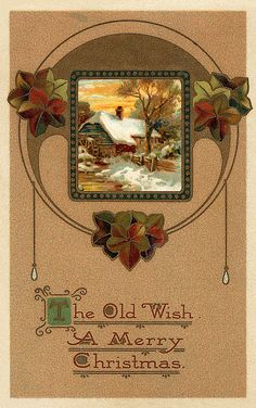 The old wish for a merry Christmas. #vintage #Christmas #cards