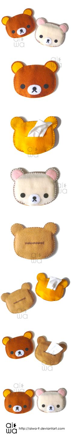 rilakkuma bear tissue holder