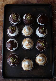 ... irish cream coffee cupcakes and marshmallow top ...