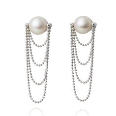 1920's freshwater pearl earrings
