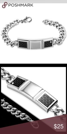 Stainless Steel 2-tone Bracelet w/ Clear CZ Stainless Steel 2-tone Grid/ Checker Watch-Style Bracelet w/ Clear CZ  * Weight:34.00 grams (1.19 ounce) * Width:1.50 cm (0.59 inch) * Length:21.00 cm (8.27 inch)  Stainless steel jewelry is hypoallergenic and remarkably durable. It doesn't scratch easily or dull and itdoesn't tarnish because of its resistance to corrosion. The Ion plating modern technology makes it last forever. Stainless steel jewelry has a great look andmakes a fabulous…