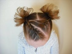 A Cute hairstyle for little girls.