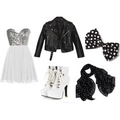 A fashion look from July 2014 featuring silver sequin dress, moto jacket and heeled boots. Browse and shop related looks. Silver Sequin Dress, Moto Jacket, Heeled Boots, Fashion Looks, Sequins, Couples, Day, Polyvore, Jackets